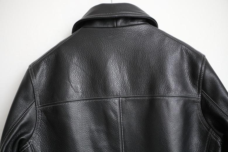 Free shipping,Brand men's 100% genuine leather Jackets,classic oil wax cow leather jacket,japan brakeman jacket.original