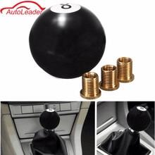 Universal Car Auto Black 8 Ball Gear Shift Shifter Knob W 8mm 10mm 12mm Adapter