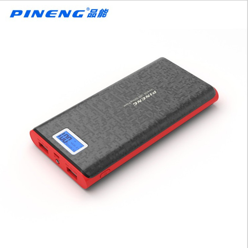 Original PINENG PN-920 20000mAh Power Bank Dual USB Charging External Battery Charger with LCD Flashlight for Mobile Phone