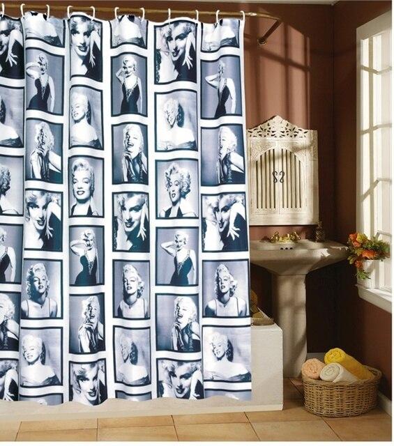 180X180CM/200CM Shower Curtains Bathroom Products curtain Modern ...