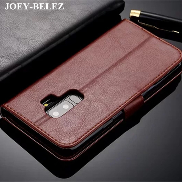 best sneakers fbb7f c4710 US $4.69 6% OFF|For Samsung Galaxy S9 S9Plus S9+ Case Luxury Wallet Flip  Leather cases Cover fundas capa for Samsung S9 S9+ case back skin bags-in  ...