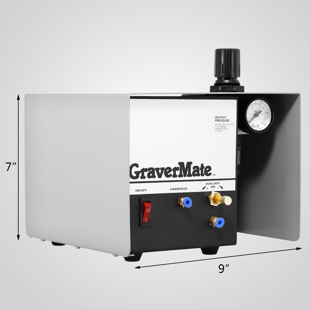 Pneumatic Impact Engraving Machine Single Ended Graver Tool Jewelry Engraver