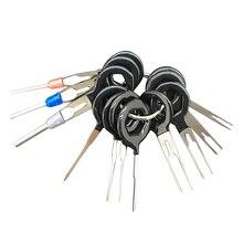 11pcs Removel Tool Kit di Cablaggio Terminale A Crimpare Connettore Estrattore Spille Chiave Strumento di Riparazione Auto Copriletto Dello Stilo del Metallo