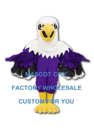 Costume de Mascotte aigle violet sur mesure taille adulte Mascotte Mascota tenue Costume fantaisie robe carnaval Cosply Costume de fête SW1148