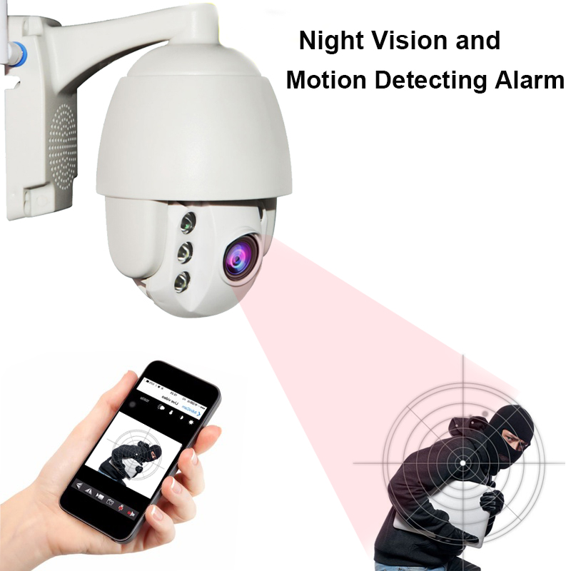 Mini PTZ Speed Dome IP Camera 1080P HD Outdoor Wireless Security Wifi Camera CCTV Surveillance Waterproof IR Night Vision Cam