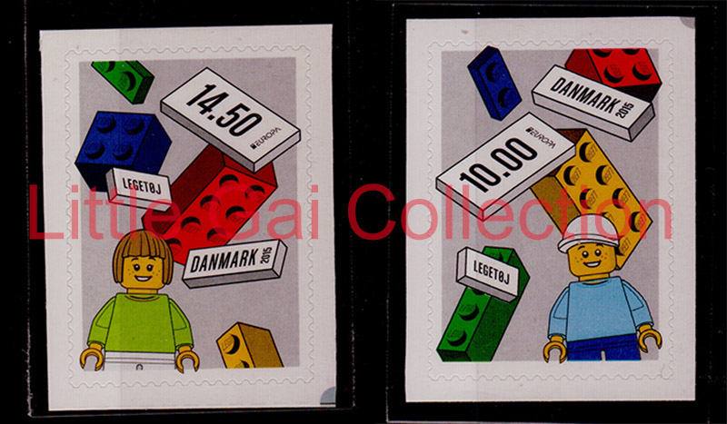 2 pieces/set Denmark postage stamps 2015 Europa CEPT Toys Loge self-sticker europa европа фотографии жорди бернадо