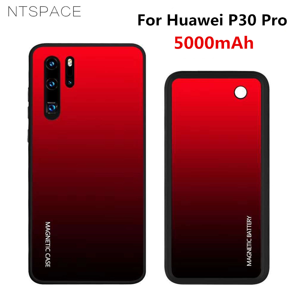 Wireless Battery Charger Cases For Huawei P30 Pro Power Case 5000mAh Wireless Charging Backup Power Bank Cover Extended Battery