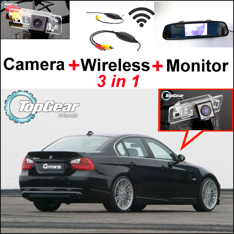 Special WiFi Rear View Camera + Wireless Receiver + Mirror Monitor Easy DIY Parking Back up System For BMW 3 E46 E90 E91 wireless pager system 433 92mhz wireless restaurant table buzzer with monitor and watch receiver 3 display 42 call button