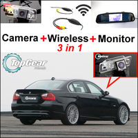 Special WiFi Rear View Camera + Wireless Receiver + Mirror Monitor Easy DIY Parking Back up System For BMW 3 E46 E90 E91