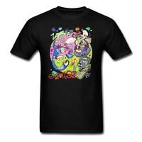 Summer Anime Gorillaz Metal 3D Music T Shirt Men Women Fashion Cotton Rock O Neck Short