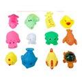Chegada nova 12 cores pequeno vocalização animais bebê criança brinquedos de banho WJ090