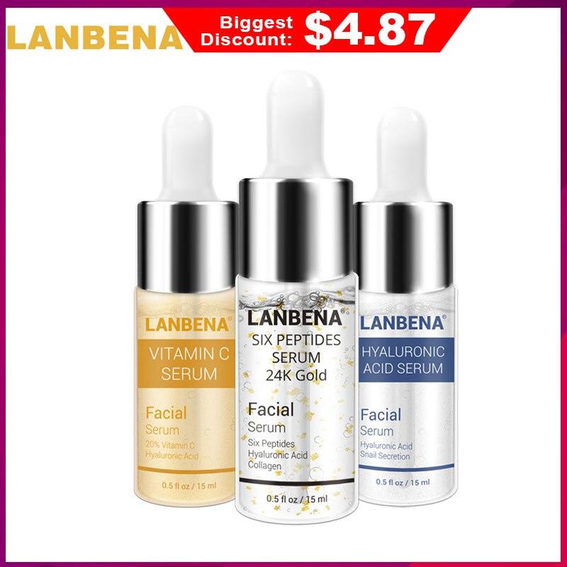 US $5.0 64% OFF LANBENA Vitamin C Serum+Six Peptides Serum 24K Gold+Hyaluronic Acid Serum Anti Aging Moisturizing Skin Care Whitening Brighten-in Serum from Beauty & Health on Aliexpress.com   Alibaba Group