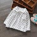 Blusas e camisas para meninas do bebê algodão ocasional de abertura de cama collor Full dot Camisa Infantil Chemises Polo crianças rosa White Hot venda