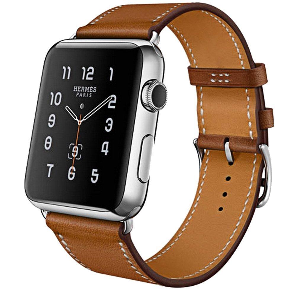 Originální kožený pásek na hodinky pro hodinky Apple 44MM 40MM - Příslušenství k hodinkám - Fotografie 6