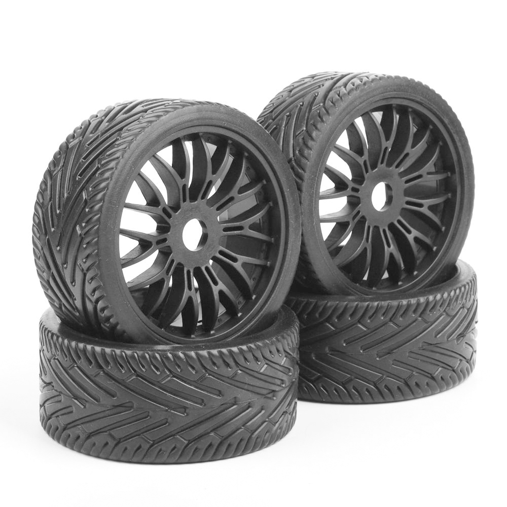 4Pcs/set Flat Off Road <font><b>1/8</b></font> Scale <font><b>RC</b></font> Car Tires <font><b>Wheel</b></font> Rims HPI HSP Buggy <font><b>17mm</b></font> hex image