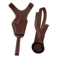 Hunting Tactical Universal Leather Shoulder Holster Vertical Shoulder Auto Handguns Cowhide Holster Adjustable Leather Gun Bag