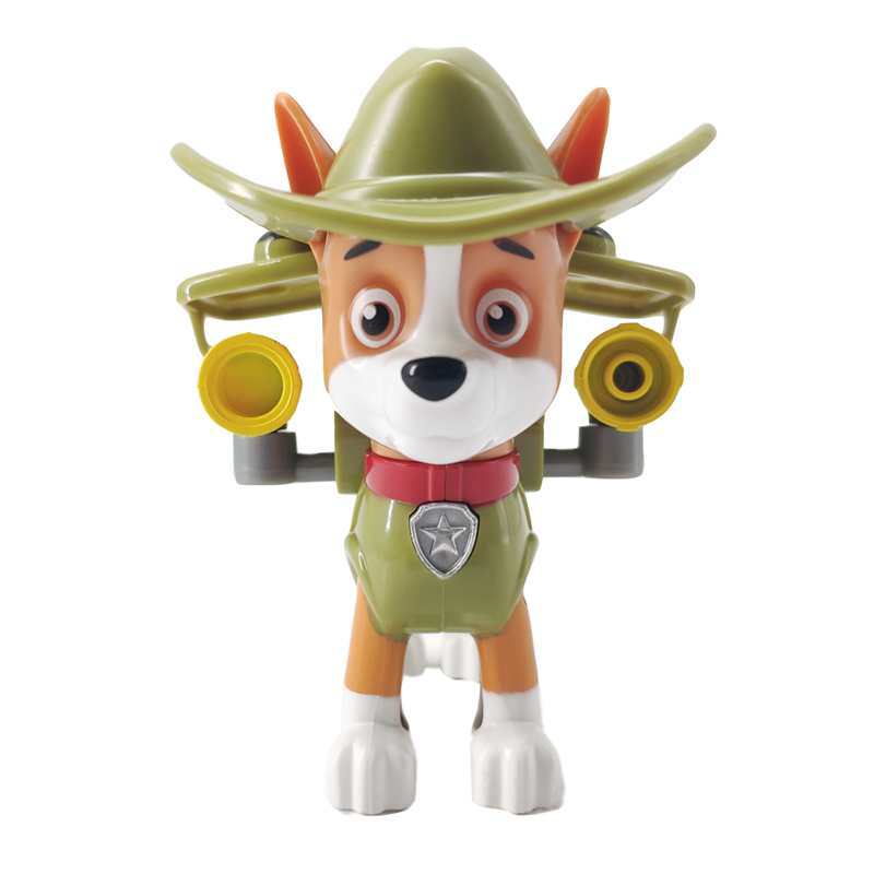 Paw Patrol Dog Tracker Puppy Pull Back Music Patrol Car Patrulla Canina PVC Doll Toys Action Figure Model Toy Kid Gift in Action Toy Figures from Toys Hobbies