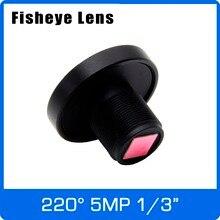 5 Megapixel 1/3 inch Super Groothoek 220 graden Fisheye Lens 1.0mm Voor 4MP/5MP OV5658 OV4689 IP CCTV Camera Gratis Verzending
