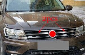 Image 1 - Переднее Крепление на капюшоне решетка гриль горизонтальная наклейка Стиль для 2018 2019 2020 VW TIGUAN mk2 Европейская версия