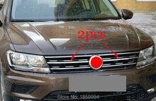 refit front hood billet grille grill mesth horizontal sticker style FOR 2018 2019 2020 VW TIGUAN mk2 Europe version