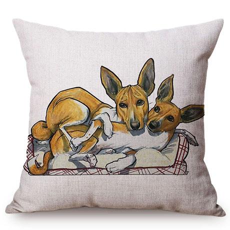 Pet Dog Animals Funny Style Cushion Cover Dachshund Schnauzer Dog Children Like Cotton Linen Sofa Decorative Throw Pillow Case M110-13