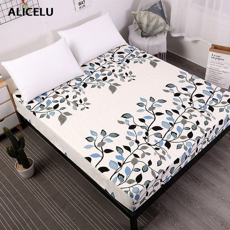 ALICELU nueva Funda de colchón de cama de impresión a prueba de agua ...