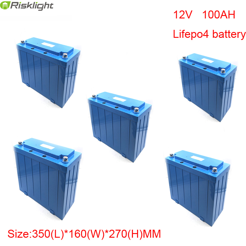 5pcs/lot 12v 100ah lifepo4 battery pack 12v electric bike battery  Pack for E-bike, Electric Bus, Golf Cart,electric car 100w folding solar panel solar battery charger for car boat caravan golf cart