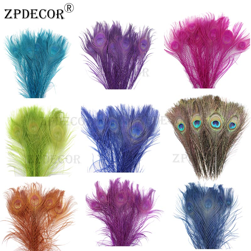 Inch12~14 30-35CM Beautifully Dyed Peacock Feathers