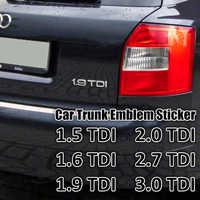 1 Pc Chrome Silver ABS 1.9 TDI 2.0 TDI 2.7 TDI A4 A6 A8 Car Body Rear Trunk Emblem Badge Sticker Turbo Direct Injection Sign