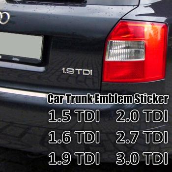 1 Pc Chrome srebrny ABS 1 9 TDI 2 0 TDI 2 7 TDI A4 A6 A8 karoseria naklejka z logo na bagażnik naklejana etykieta Turbo bezpośredni wtrysk znak tanie i dobre opinie GTownworks 1 5 1 6 1 9 2 0 3 0 2 7 TDI A4 A6 A8 2018 0 5cm Audi 15cm ABS Plastic Emblematy 100 Brand New High quality