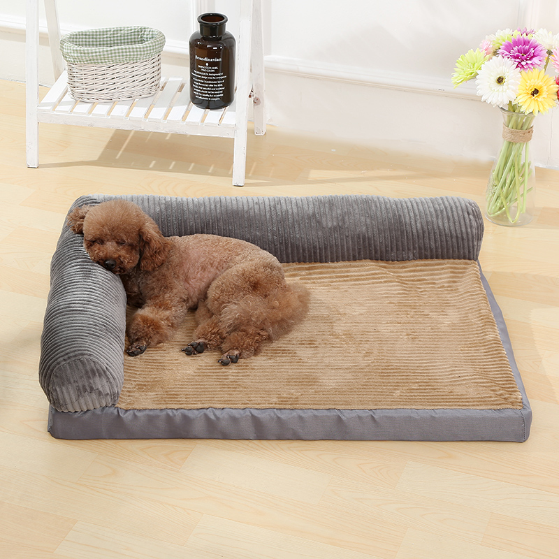 Thickening Warm Pet Brown Bed Mat
