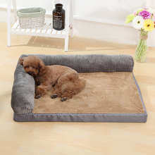 2019 Big Size Thickening Warm Pet Brown Bed Mat Available All Seasons Extra Large Dog Bed House Sofa Plus Size Dog Bed Mattress large double people big size inflatable mattress bed flocking bed mattress blue folding relax sofa chair