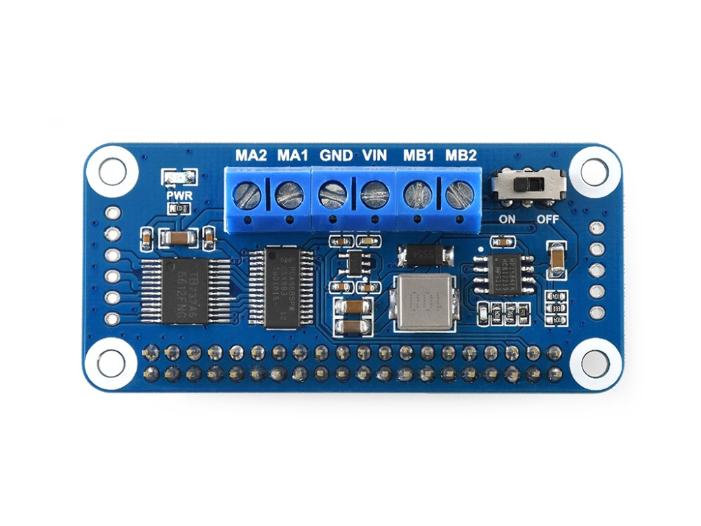 Waveshare Motor Driver HAT for Raspberry Pi Zero/Zero W/Zero WH/2B/3B/3B+, I2C Interface,Onboard PCA9685 chip 4g 3g 2g gsm gprs gnss hat for raspberry pi raspberry pi zero zero w zero wh 2b 3b 3b based on sim7600e h support dial up