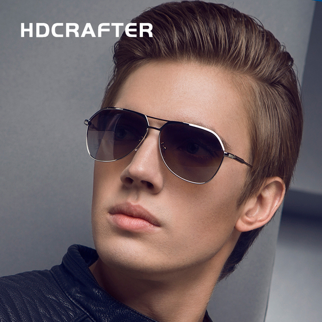 02b4f3d065a HDCRAFTER Brand Designer High Quality Men s Sunglasses Polarized Driving  Sun Glasses UV400 Protection Sunglasses ...