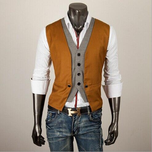 Aliexpress.com : Buy 2014 Hot Sale Men Suit vest Black Brown Plus ...