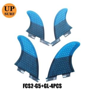 Image 2 - לגלוש סנפירי g5 + gl fcs השני fcs 2 quad quilla לגלוש fcs2 לגלוש gl fcs 2 quad 4 חתיכות quad