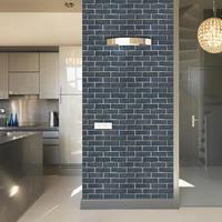 Classic 3d Brick Wall Paper Sticker Bathroom Kitchen Wallpapers Self Adhesive PVC Wallpaper Roll Home Decoration Behang ZE089