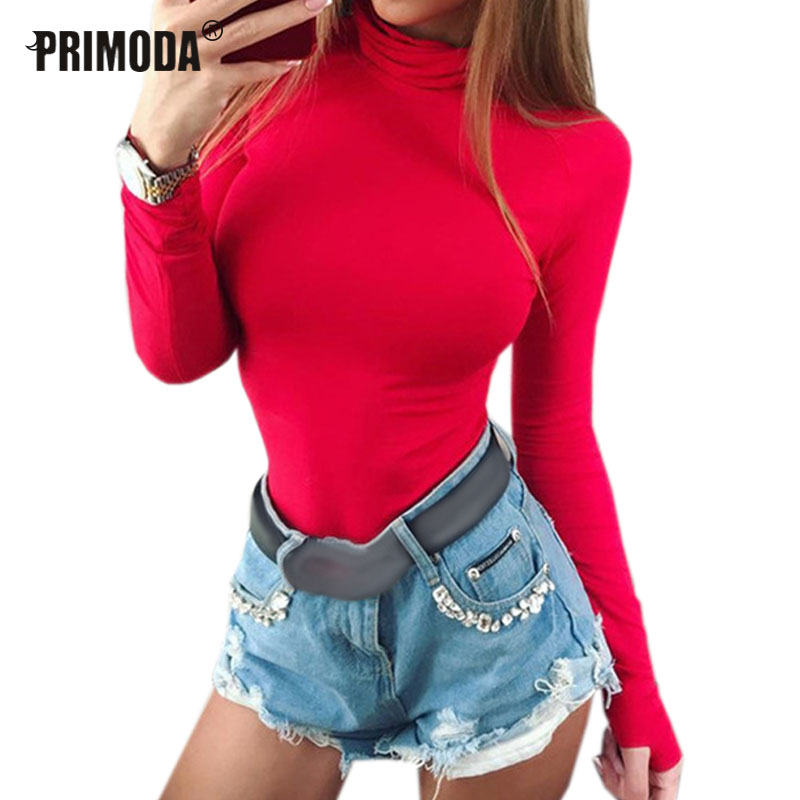 Sexy Female Body Autumn Top Bodycon Bodysuit Feminino Mujer Skinny Solid Club Stretchy Red Rompers Winter Jumpsuit Long Sleeve