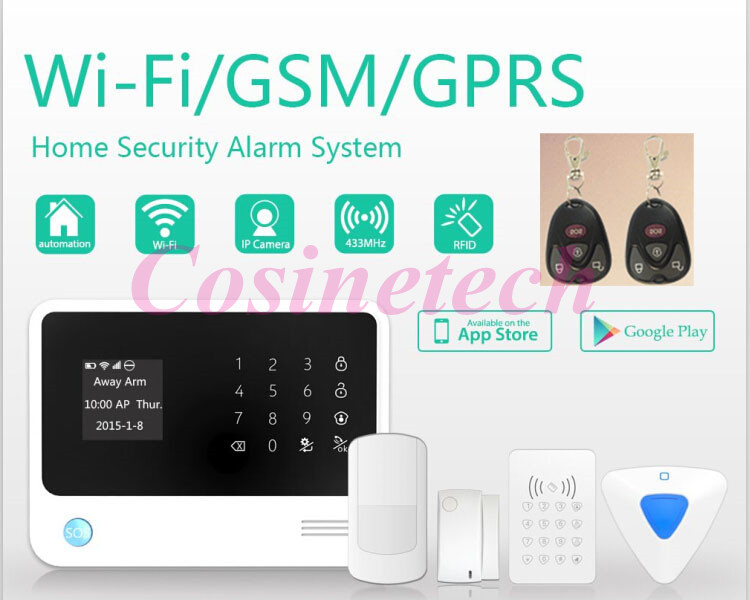 2015 New arrival G90B GSM home alarm Security GPRS WIFI alarm system with smart APP match with surveillance camera+RFID keypad цена и фото