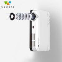 Womoto mini projetor 4 k resolução wi fi projetores bluetooth 700 ansi led portátil hd para casa comercial 3d cinema projetor