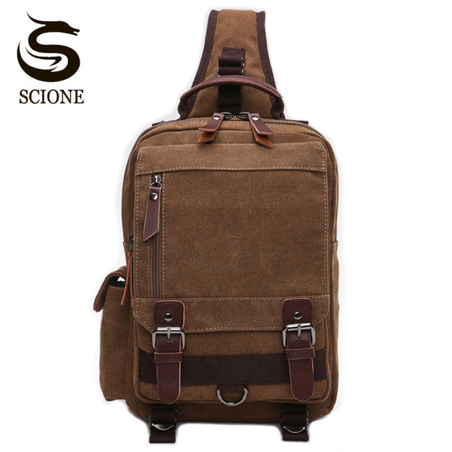 Scione High Quality Men Chest Bag Casual Travel Handbag Messenger Bags Unisex Female Crossbody Shoulder Bag Small bolsas mujer