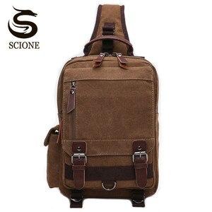 Image 1 - Scione wysokiej jakości męska torba na klatkę piersiową dorywczo torba podróżna Messenger torby Unisex kobieta torba na ramię Crossbody małe bolsas mujer