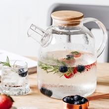 1Л/1,5 л большой прозрачный боросиликатный стеклянный чайник термостойкий большой прозрачный чайник цветочный чайный набор пуэр чайник для офиса и дома инструмент
