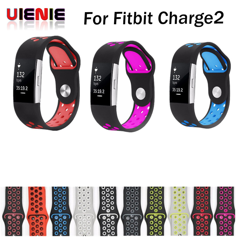 UIENIE Strap for fitbit charge 2 band Silicone strap replacement watch band For Fitbit charge 2 bracelet smart wristbands fitbit charge 2 smart wristbands replacement band blue page 5