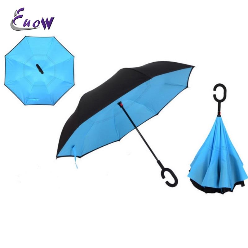 Solide handsfree omgekeerde paraplubak Dubbele omgekeerde paraplu - Huishouden