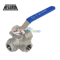 High Quality 1 2 3 Way Female BSPT 316 SS Type L Mountin Pad Ball Valve