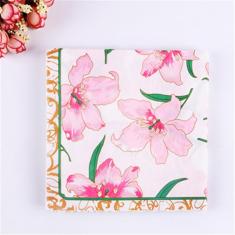 Parties Lillies Serviettes for Decoupage 2 Paper Napkins Weddings