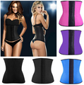 4 Steel Bones ann chery fashion Plump Women shaper cincher waist Slimming Csual latex corset bustier underbust Corselet 6XL