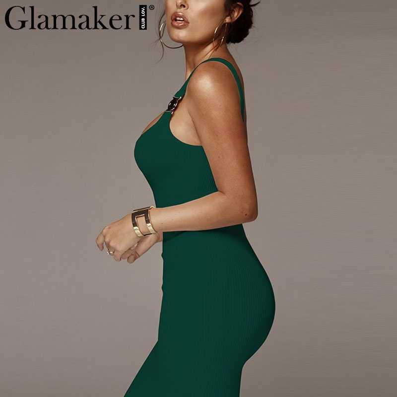 Glamaker трикотажное сексуальное черное облегающее платье женское белое длинное платье летние вечерние Клубные миди элегантное офисное красное платье Сарафан 2019