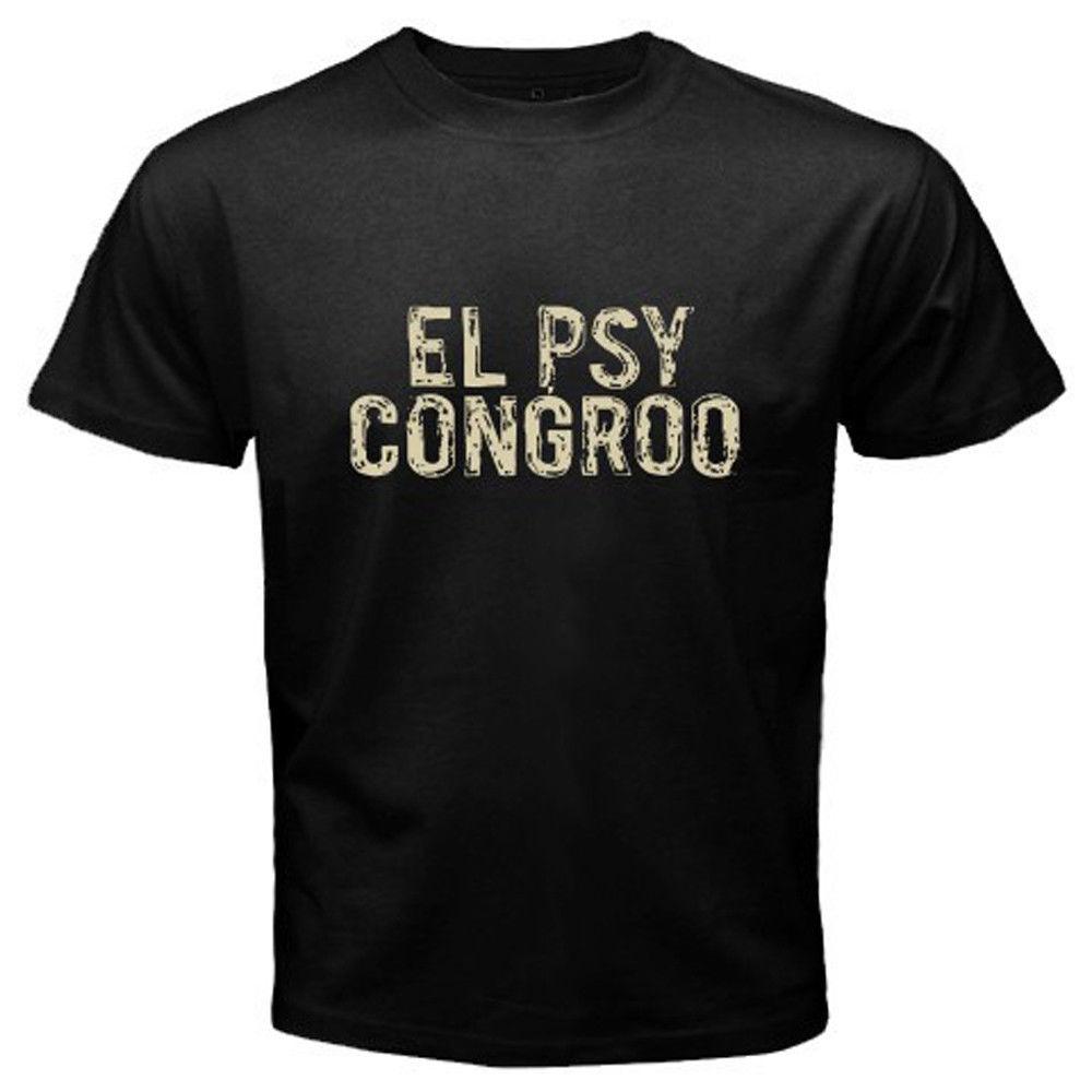 Новый Штейнс ворота El Psy Congroo аниме Для мужчин черный футболка Размеры S к 3XL